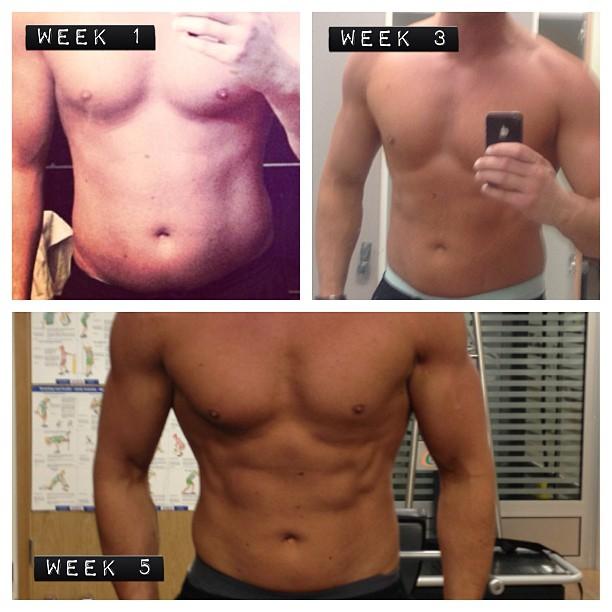 före och efter bilder träning killar